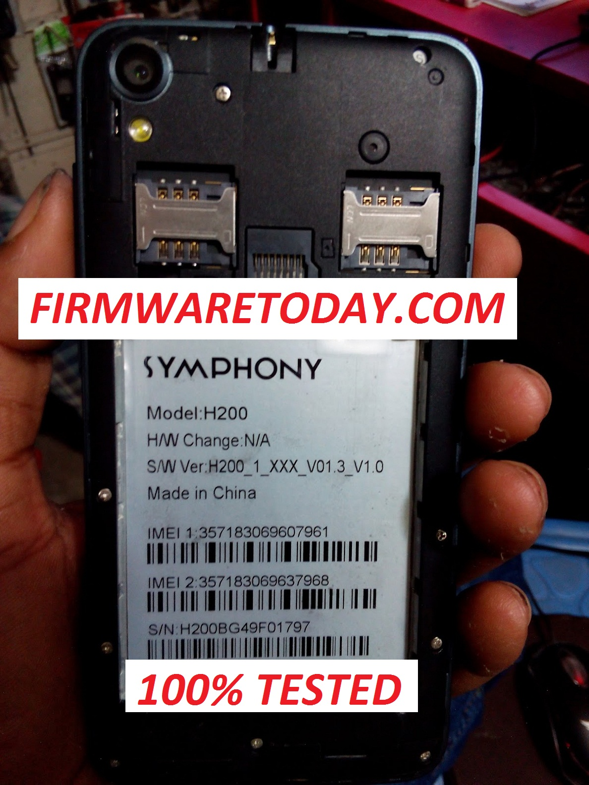 SYMPHONY H200 OFFICIAL FIRMWARE 3rd VERSION UPDATE(H200_1_XXX_V01.3_V1.0) 2000% TESTED BY FIRMWARETODAY.COM