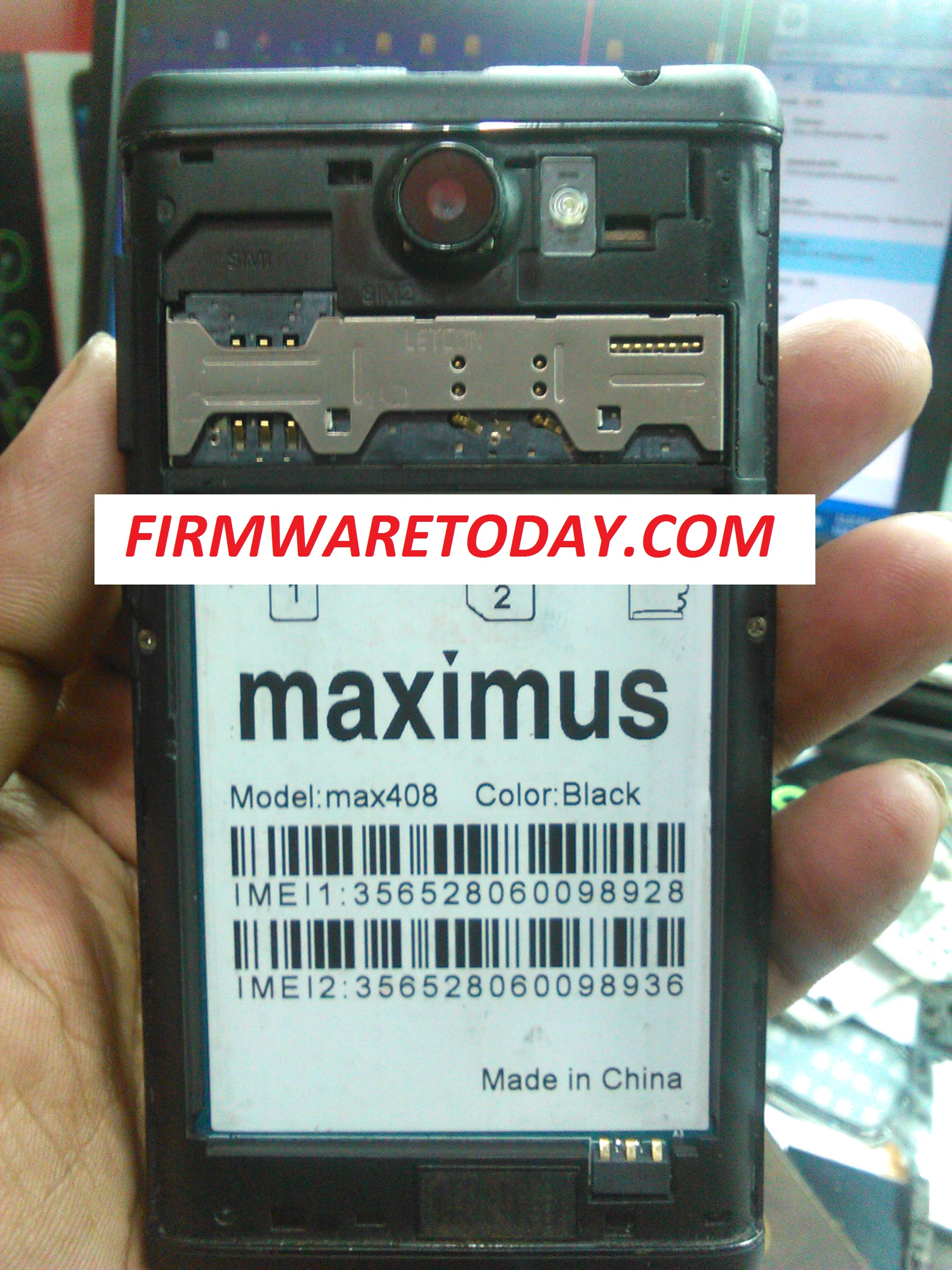 MAXIMUS MAX408 OFFICIAL FIRMWARE WITHOUTPASS 2ND UPDATE (MT6572) 2000% TESTED BY FIRMWARETODAY.COM
