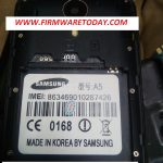 SAMSUNG A5 VAMI OFFICIAL FRMWARE  2nd UPDATE  (MT6571) 2000% TESTED BY FIRMWARETODAY.COM