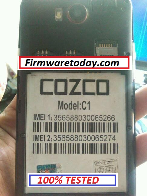 COZCO C1 FLASH FILE UPDATE VERSION (MT6572) 2000% TESTED BY FIRMWARETODAY.COM