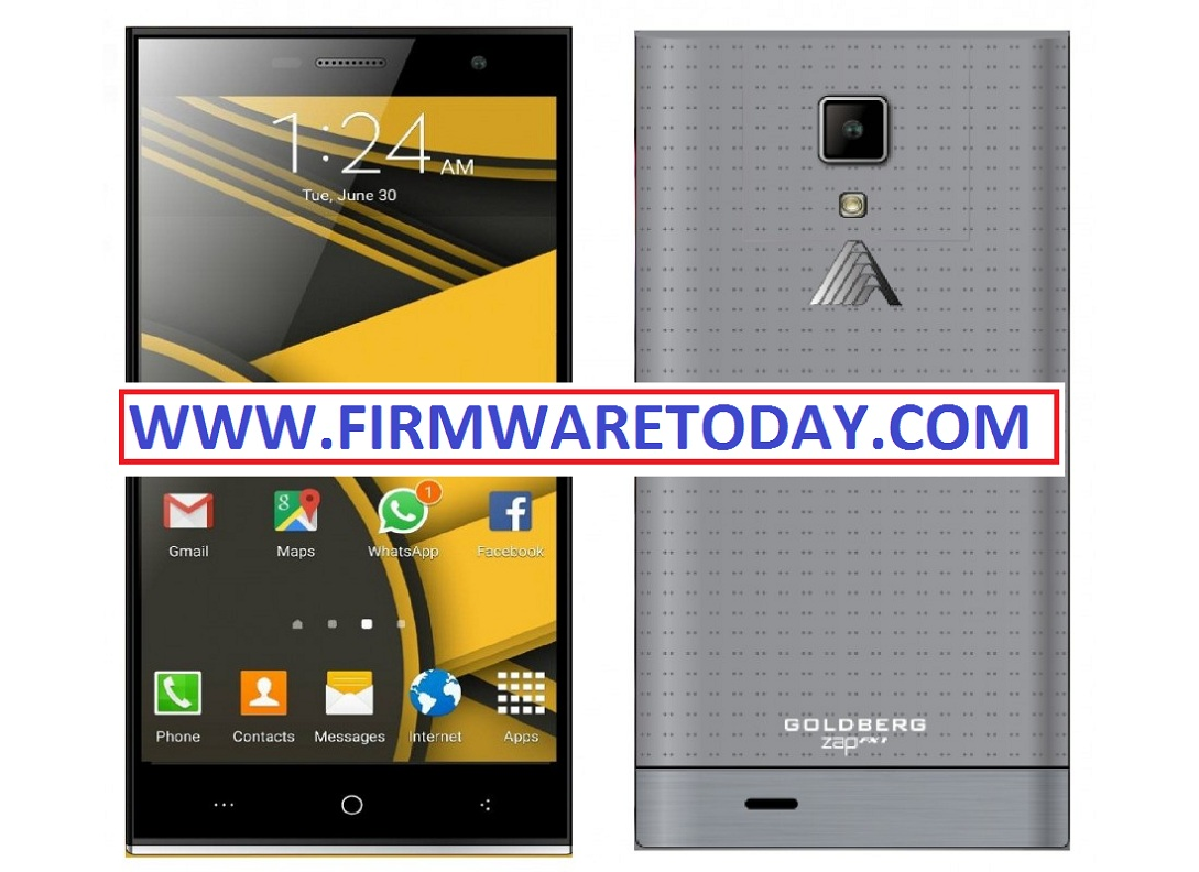GOLDBERG ZAP FX1 OFFICIAL FIRMWARE 2nd UPDATE (MT6592) OFFICIAL 1000% TESTED BY FIRMWARETODAY.COM