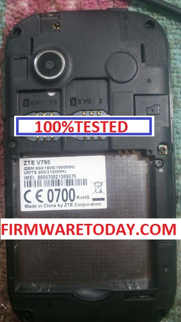 ZTE V795 OFFICIAL FIRMWARE UPDATE VERSION (MT6572) 1000% TESTED BY FIRMWARETODAY.COM