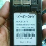 SYMPHONY E76 FLASH FILE FREE UPDATE VERSION (E76_XXX_V2 -MT6572)