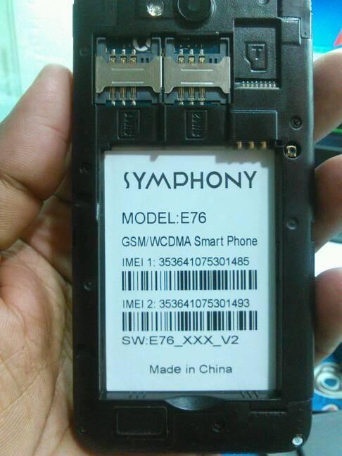 SYMPHONY E76 FLASH FILE FREE UPDATE VERSION (E76_XXX_V2 -MT6572)