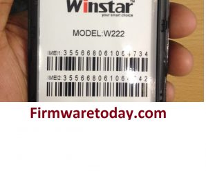 Winstar W222 Flash File Free Firmware (MT6572) 100%Tested