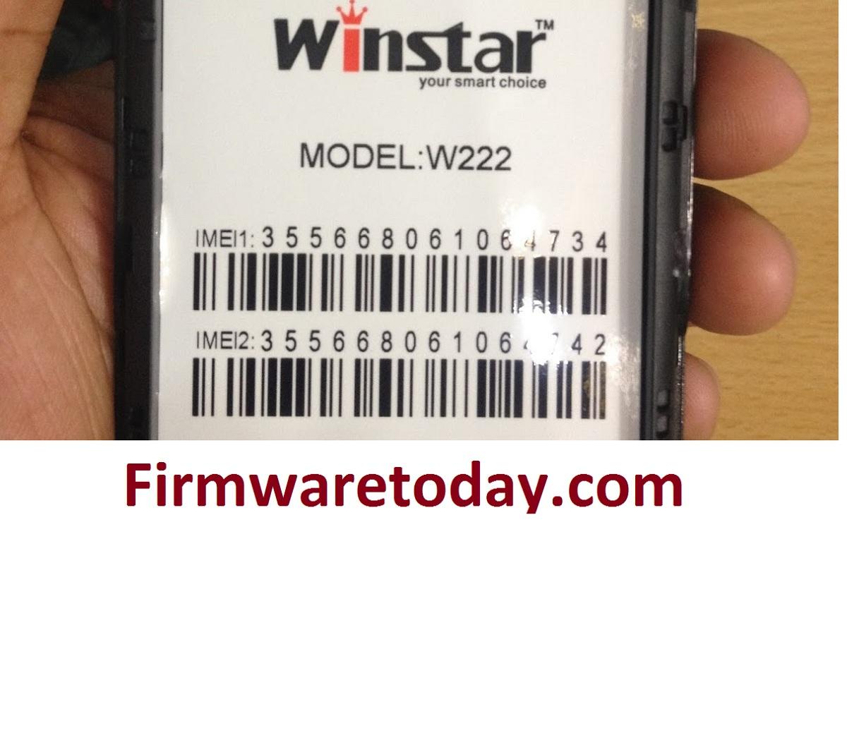 Winstar W222 Flash File Free Firmware (MT6572) 100%Tested