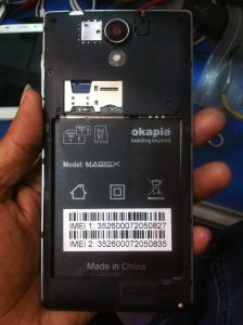 Okapia Magic X Flash File Stock Rom Firmware