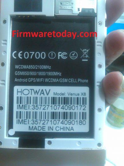 HOTWAV Venus X8 Flash File Stock Rom Firmware 2nd Update