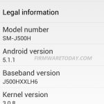 SAMSUNG SM-J500H J5 MT6582 Flash File 5.1 Stock Rom Firmware