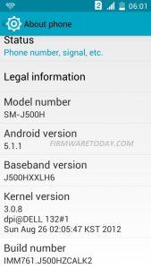 SAMSUNG SM-J500H J5 MT6582 Flash File 5.1 Stock Rom Firmware