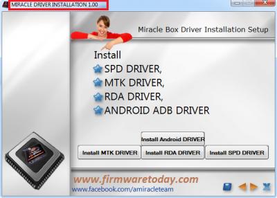 Miracle box driver setup{32 bit 64 bit}download