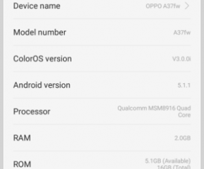 OPPO A37FW Flash file firmware stock ROM