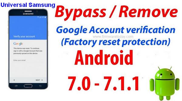 Universal Samsung FRP Bypass