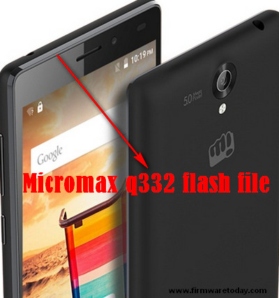 Micromax q332 flash file
