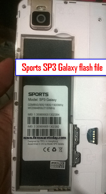 Sports SP3 Galaxy flash file