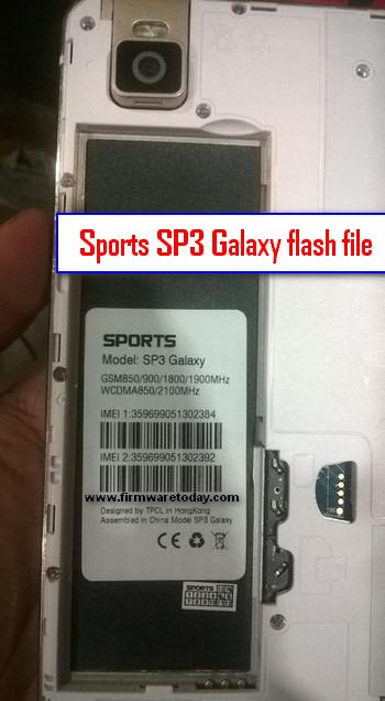 Sports SP3 Galaxy flash file